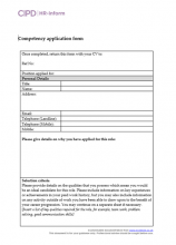 Competency application form