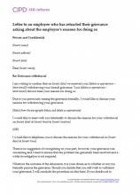 Letter to an employee who has retracted their grievance asking about the reasons the employee did so