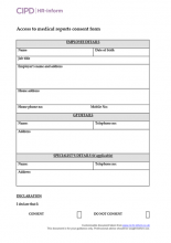 Access to medical reports consent form