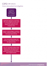 Flowchart for carrying out an investigation into gross misconduct