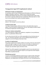 Young person employment contract