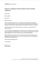 Letter to employee regarding failure to provide medical certificates