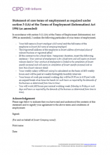 Statement of core terms of employment