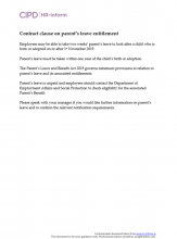 Contract clause on parent's leave entitlement
